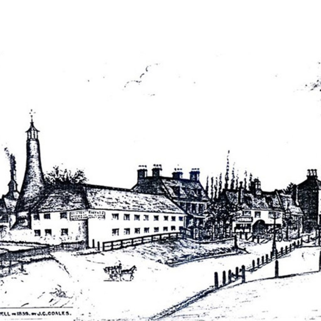 Newport Pagnell in 1853 by J.C.Coales