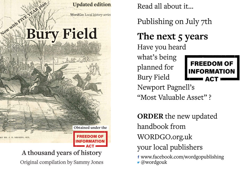 Updated Bury Field Book is to publish on July 7