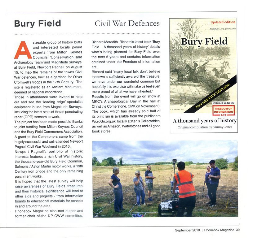 Bury Field Article PhoneBox September 2018