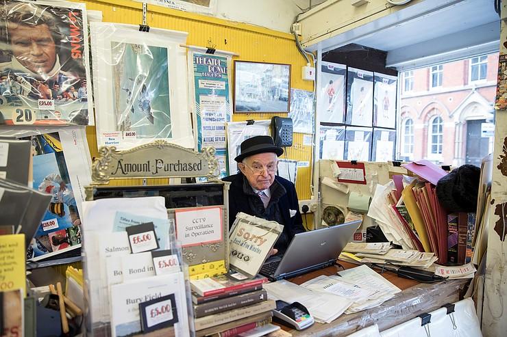 Ken Graham in his Shop