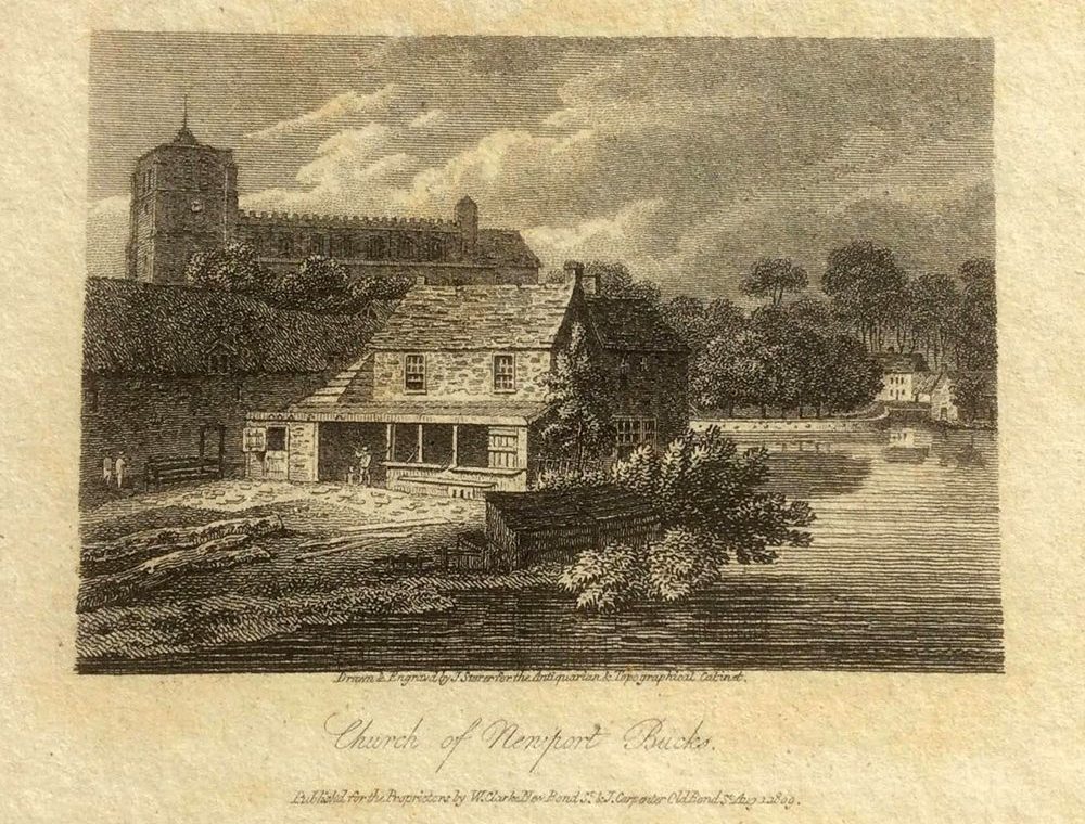 1809 print showing the course of the Ouse behind NP church - courtesy of Trudie Mundell