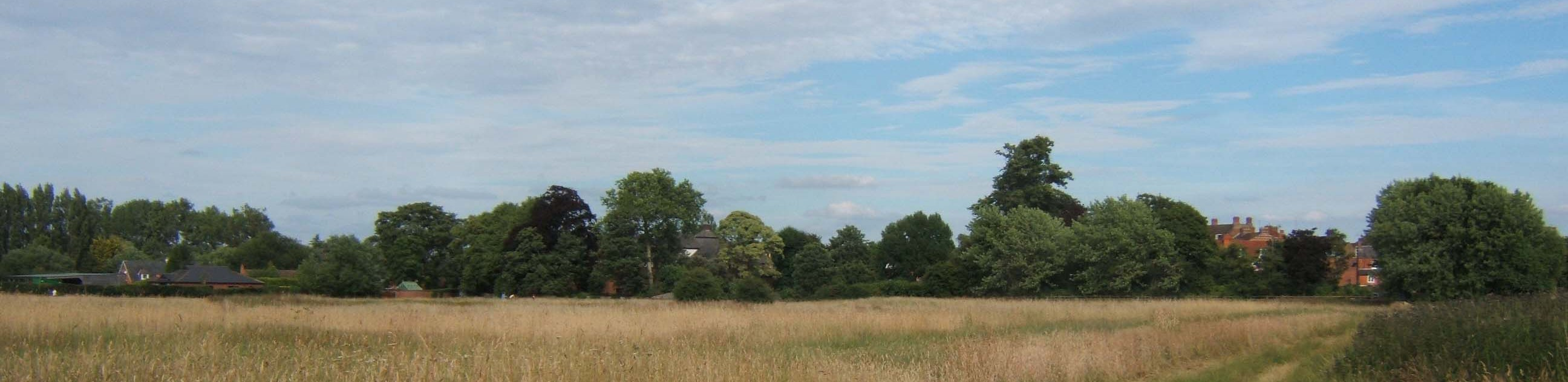 Summer 2010: a beautiful panoramic shot of Bury Field in the heart of Newport Pagnell – pic: Jack Reynolds